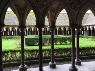 Klostergarten Mont Saint Michel